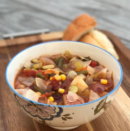 V soup